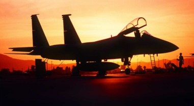 Jet in Sunset